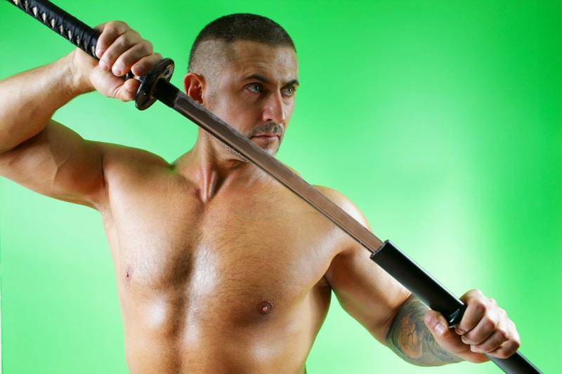 the Samurai with a sword