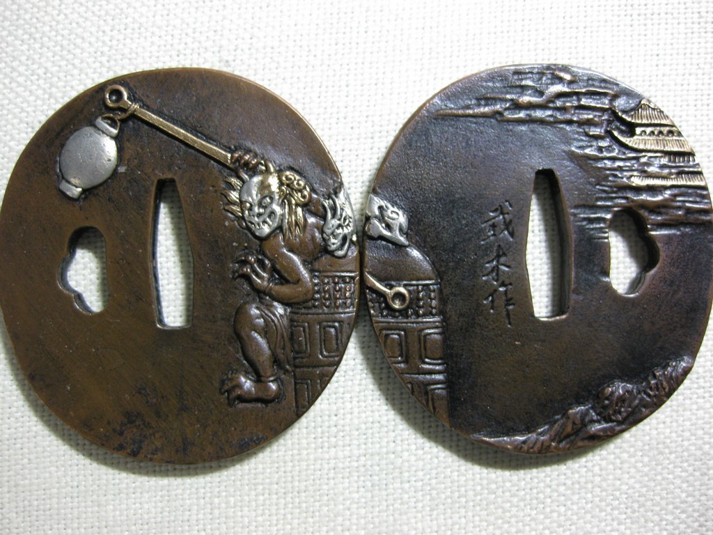 high quality copper tsuba (100)