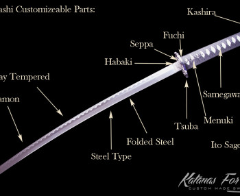 Wakizashi customizable parts