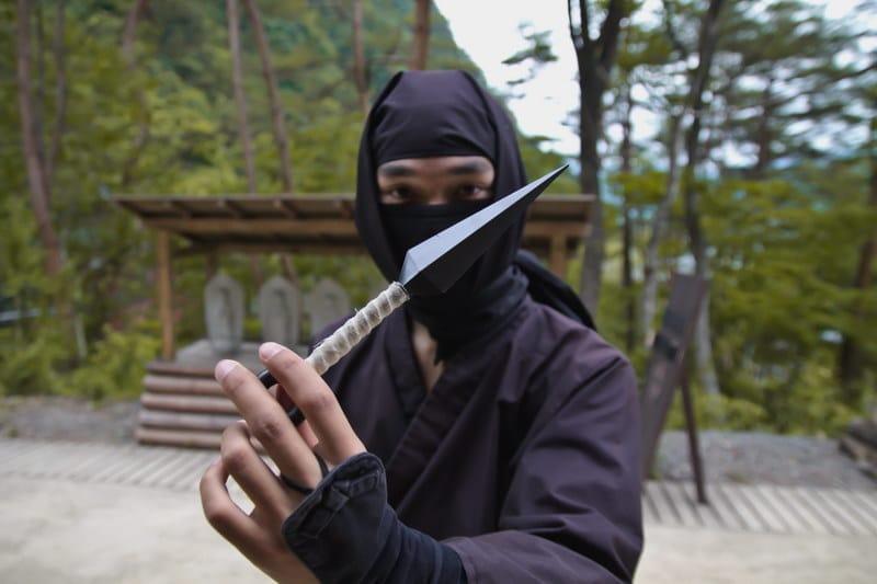 Ninja with His Weapon