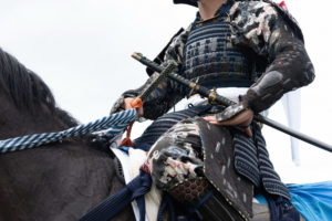 Samurai on horse